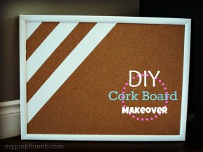 Pinterest To Life: Cork Board Makeover
