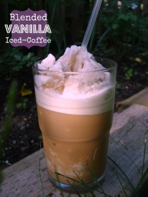 Blended Vanilla Iced Coffee